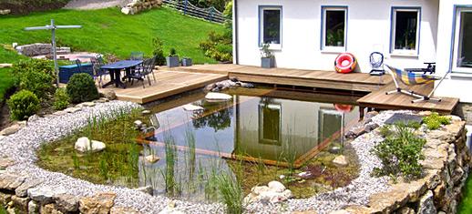schwimmteich vs swimmingpool wasser im garten bauen und wohnen in der schweiz. Black Bedroom Furniture Sets. Home Design Ideas