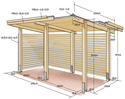 brennholzunterstand bauplan garten allgemein bauen und. Black Bedroom Furniture Sets. Home Design Ideas