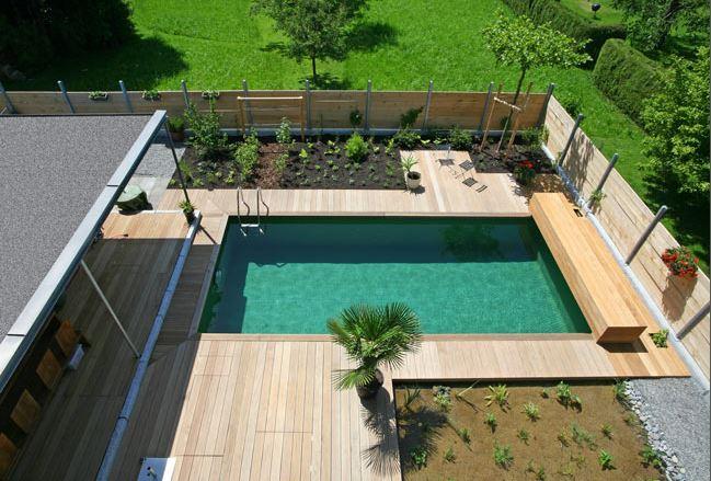 biopool und schwimmteich wasser im garten bauen und wohnen in der schweiz. Black Bedroom Furniture Sets. Home Design Ideas