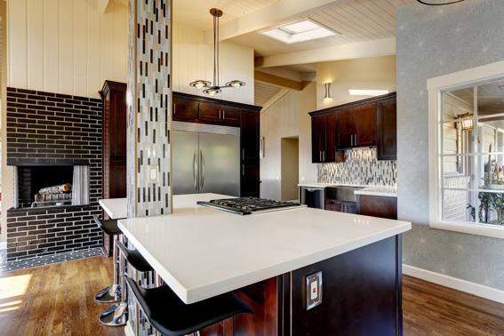 moderne offene k che bauen und wohnen in der schweiz. Black Bedroom Furniture Sets. Home Design Ideas