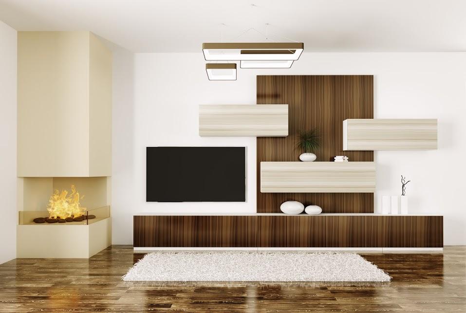 moderne wohnwand und eckkamin bauen und wohnen in der schweiz. Black Bedroom Furniture Sets. Home Design Ideas